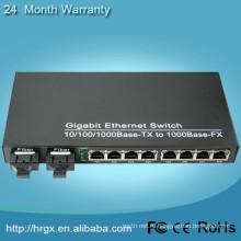 2Fiber и 8RJ45. 2 оптоволоконными портами и 8 портами RJ45 коммутатор неуправляемый волокна