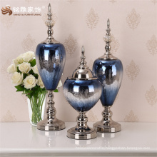 Glass vase office gift customised craft for new house decoration interior tabletop ornament