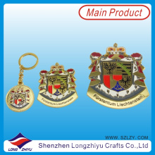 Custom Size Badge Gold Plated Badge for Promotion (lzy00072)