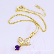 32329 nueva moda mujer 18k colgante de joyería de pescado dorado en cobre ambiental