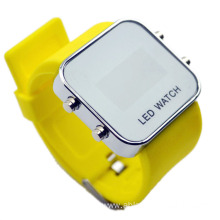 Mirror Dial LED Digital Sport Watch