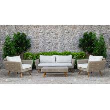 Hot Trendy PE Rattan Sofa Set For Outdoor Garden Wicker Furniture from Vietnam