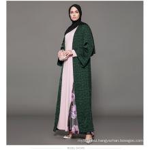 Owner Designer manufacturer women Dubai custom Kimono brand oem label Fashion Front navy blue front open abaya
