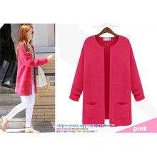 Hot Selling Candy Color Women Sweater Cardigan Design