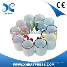 AA grade 11oz Rim Color Sublimation Mug for Heat Transfer