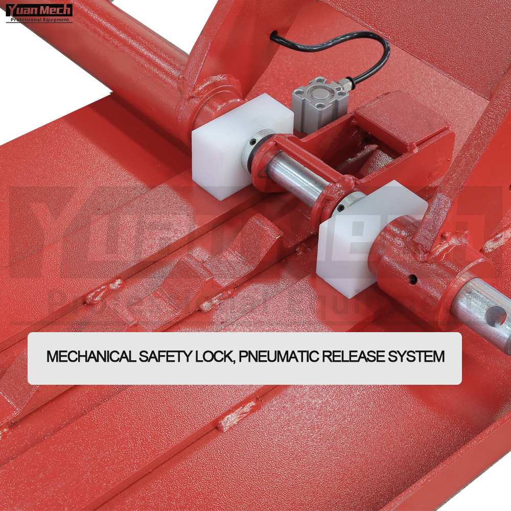 mid rise lift mechanical safety lock