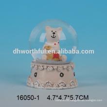 Lovely bear shaped crystal snow globe water ball