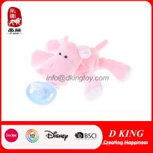 Venta caliente niños bebé cuidado chupete Clip Plush Animal Toy