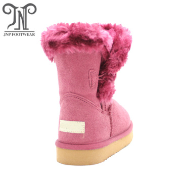Girls Kids Fuzzy Red Boots Shoes