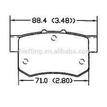 D365 43022-SG0-G01 pour plaquettes de frein en fibre de carbone Rover MG