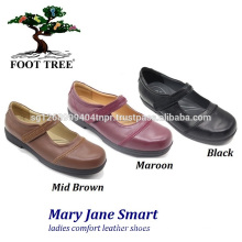 Sapatos de enfermagem Foottree Comfort em couro 0405
