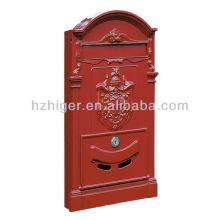 Caixa de correio retro da cerca do ferro fundido europeu e americano para a venda