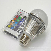High quality good price with CE RoHS 100-240v rgb remote led bulb 3w e27