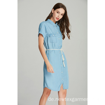 DAMEN TENCEL DENIM KLEID