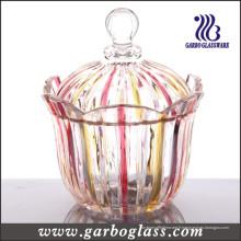 Pot de verre décoratif (GB1808H / P)