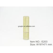 Retro y elegante aluminio cilíndrico lápiz labial tubo contenedor E203, Copa size12.1/12.7,Custom color