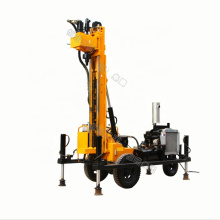 CE Certificate Full Hydraulic Water Well Drilling Rig with Air Compressor HQY100 HQY200