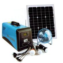 Sistema de energía solar casero