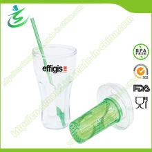 20 Oz Одностенная пластиковая соломенная чашка с инфузиром (IB-A4)