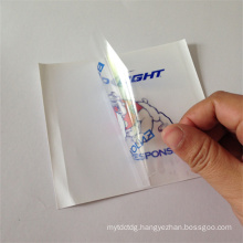 custom die cut transparent pvc sticker