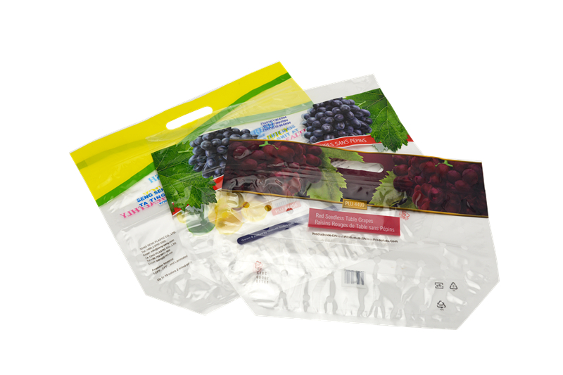 Flexible Print 12 colors Fruit Packaging Bag With Handle