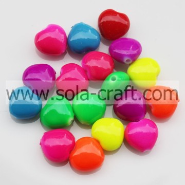 Onsale 7*10MM Sparking Oil Colors Garment Heart Spacer Beads Wholesale