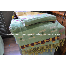 Blended Merino Wool/Viscose Throw (NMQ-WV001)