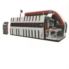 Vacuum Transfer 5 colors print die cut machine with slotter attachment machine