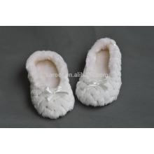 fur plush quiet women indoor warm soft sole ballet dancing slipper sock