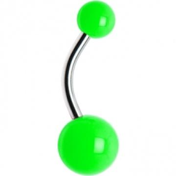 Anel de barriga verde Neon