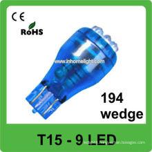 921 led car lamp 9pcs led 12V