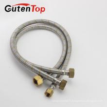 GutenTop Haute qualité et bon prix Tube tressé en acier inoxydable 304 SS PTFE Tuyau