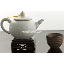 235cc Celadon Ru Kiln Tea Pot, Moon white