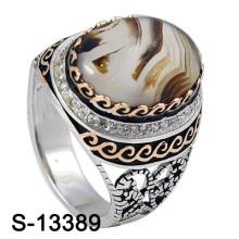 925 bijoux en argent bijoux en zirconium avec agate naturel.