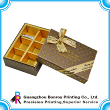 High end fashion style chocolate packaging box custom logo