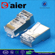 Daier 8P8C-FTP5-I Gold Plated RJ45 Contacts Shield Male Connector