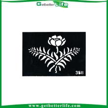 2015 getbetterlife novo design shimmer glitter tatuagem estêncil atacado/reutilizáveis glitter tatuagem tatuagem/estêncil estêncil