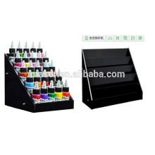 Preço de fábrica carrinho de exibição de tinta de tatuagem 5-tier Rack Organizer contador, grande capacidade de exibição de tinta de tatuagem rack