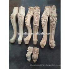 pieds de meuble de sculpture en bois