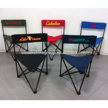 2015 hot sale metal foldable fishing stool/folding tripod chair with backrest for promotion