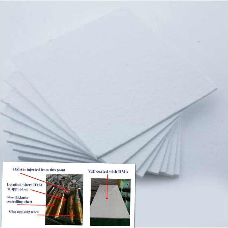 Low thermal conductivity core material for vacuum insulation panel