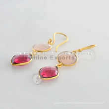 Designer Christmas Earring With Gold Vermeil Chalcedony Silver Gemstone In Wholesale