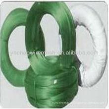 O fio revestido do vário PVC das cores / plástico revestiu o fio do laço