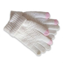 Women 100% Acrylic Jacquard Pattern Warm Knitted Custom Winter Gloves With Logo