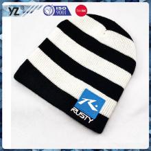 Высококачественная полосатая трикотажная зимняя шапка с низкой ценой