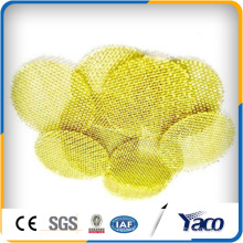 Disque d'écran de filtre de laiton de 15mm, maille d'écran de laiton, disque de filtre de laiton