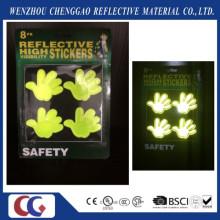 Fluoreszierender heller reflektierender Aufkleber der hohen Sichtbarkeit