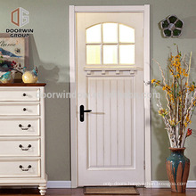 Country side front door designs white pine larch oak wooden door with tempered glass