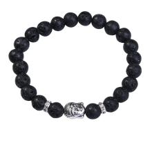 Lava Stone 8MM Gemstone Buddhism Prayer Beads Bracelet