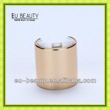 High quality 24/410 shiny gold disc press cap